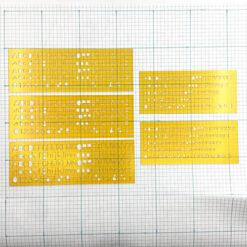 CODECO 英文字母模板隨身組2