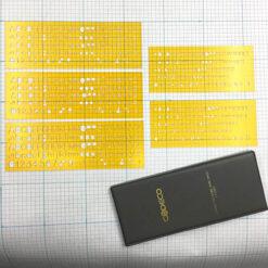 CODECO 英文字母模板隨身組3