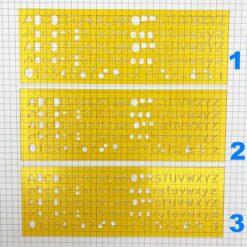 Codeco 英文字母模板1 2 3