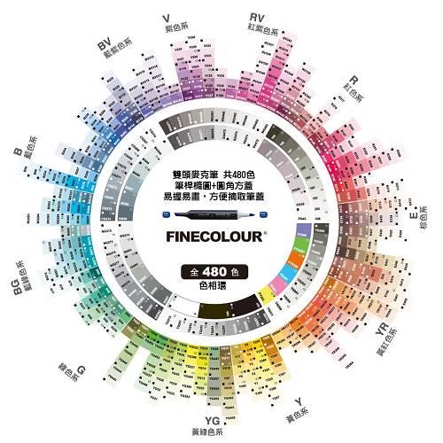 Finecolor好色彩 480色色環-500