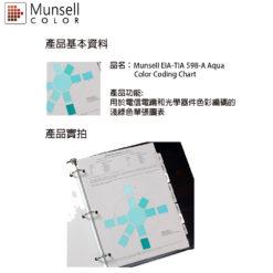 M50051 Munsell EIA-TIA 598-A Aqua Color Coding Chart